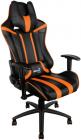 Кресло для геймера Aerocool AC120 AIR-BO, черно-оранжевое, с перфорацией, до 150 кг, размер 70х55х124/ 132 см (AC120 AIR-BO)