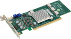 Quad port OCuLink retimer NVMe SSD add-on card for PCIe3 x16 slot (AOC-SLG3-4E4T-O)