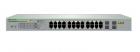 Коммутатор Allied Telesis 24 port 10/ 100/ 1000TX PoE+ plus 4 x 100/ 1000 SFP, WebSmart Switch, 185W PoE budget, EU Powe .... (AT-GS950/ 28PS-50)
