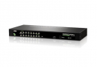 16-портовый KVM-переключатель, 1 local user, каскадирование до 64CPU. В комплекте: консольный кабель(2L-5201P), набор дл .... (CS1316)