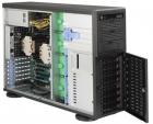 Black 4U Tower SC743AC SQ with SAS3, USB3, 1200W PWS (CSE-743AC-1200B-SQ)