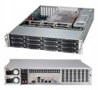 "Корпус для сервера Supermicro SuperChassis 2U 826BE1C4-R1K23LPB/ no HDD(12)LFF/ 7xLP/ 2x1200W Titanium(12"" x 13"", 13.68"" .... (CSE-826BE1C4-R1K23LPB)"