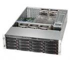 Black 3U SC836 CSE W/ Single SAS3 Expander Redund. 1.2KW (CSE-836BE1C-R1K23B)