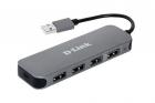 Концентратор usb D-Link DUB-H4/ E1A, 4-port USB 2.0 Hub.4 downstream USB type A (female) ports, 1 upstream USB type A (m .... (DUB-H4/ E1A)