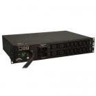 230V, 32 amps, (4) C19 AC outlets & (12) C13 outlets, IEC309 32A (2P+E) input plug, 2U mounting format. (PDUMNH32HV)