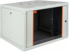 """Шкаф настенный PROline 19"""" 9U 600x560 передняя дверь одностворчатая стекло с металлической рамой слева и справа, цвет се .... (PRL9U56GF1)"""