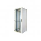 19'' напольный шкаф, высота 21U, ширина 600, глубина 600, спереди стеклянная дверь, сзади металлическая стенка (RI7-21-60/ 60 - B)