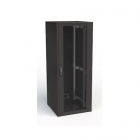 19'' RI7 напольный шкаф, высота 48U, ширина 800, глубина 1000, спереди стеклянная дверь, сзади металлическая стенка (RI7-48-80/ 100-H)