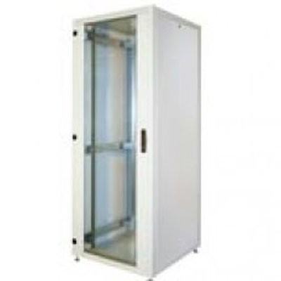 Одностворчатая дверь для шкафа - Ri7/ RM7, 42U, Ш. 600мм, стальной лист с щелевой перфорацией, Поворотная ручка с профил .... (RI7-DO-42/ 60-PV-B)