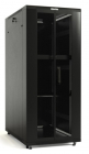 Hyperline TTB-4281-DD-RAL9004 Шкаф напольный 19-дюймовый, 42U, 2055x800х1000 мм (ВхШхГ), передняя и задняя распашные пер .... (TTB-4281-DD-RAL9004)