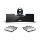 Система видеоконференцсвязи Yealink VC500 в комплекте с 5-кратной FullHD 1080P@30 камерой и двумя беспроводными DECT мик .... (VC500-CPW90)