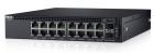 Коммутатор DELL Networking X1018P с веб-интерфейсом, 16 портов 1GbE PoE и 2 порта 1GbE SFP, 3YPSNBD (X1018P-AEIL-01)