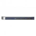 Управляемый гигабитный Smart-коммутатор на 10 портов 10GBase-T + 2 SFP+/ 10GBase-T (Combo)порта, улучшенными функциями A .... (XS712T-100NES)